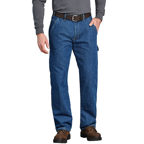 Dickies Men's Relaxed Fit Flannel Lined Carpenter Jean