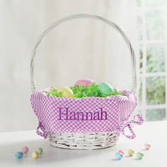 Personalized Embroidered Easter Basket