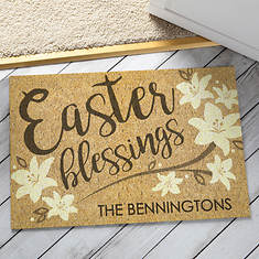 Personalized Easter Blessings Doormat