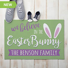 Personalized We Believe Easter Doormat