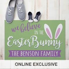 Personalized We Believe Easter Doormat