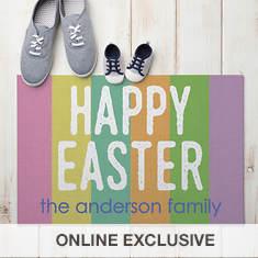 Personalized Happy Easter Doormat