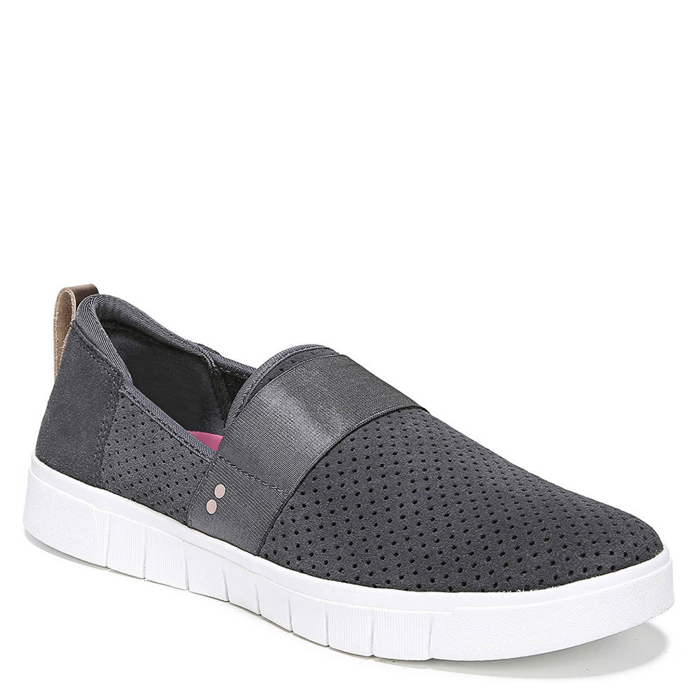 *Feel the flex in a stylish and breathable slip-on sneaker with a made-for-women fit *Perforated suede leather upper with a round toe *Slip-on fit with back pull tab *Soft shimmer Lycra® sock *Surround Fit insole surrounds your foot in comfort *EVA midsole for extra cushioning where you need it most *Ultra-flexible TPR lug outsole
