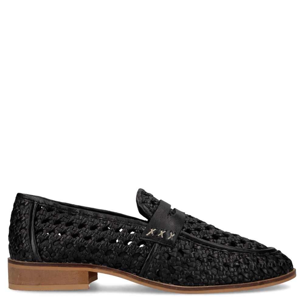 *Versatile and elegant this warm-weather loafer is ready for your sartorial looks *Woven leather upper with penny strap detail *Slip-on styling *Lightly cushioned footbed *1\\\