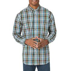 Wrangler Men's Wrinkle Resist Plaid Long Sleeve