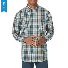 Wrangler Men's Wrinkle Resist Plaid Long Sleeve