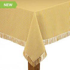 """Homespun Check Woven Tablecloth 52""""x52''"""