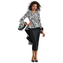 Zebra Skirt Suit Set