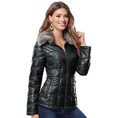 Faux Fur Puffer Coat