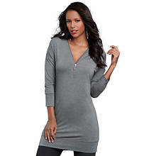 3/4-Sleeve Zip Tunic