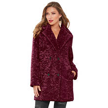 Textured Oversized Peacoat