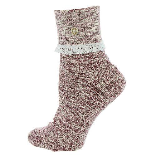 Birkenstock Women's Slub Lace Crew Socks