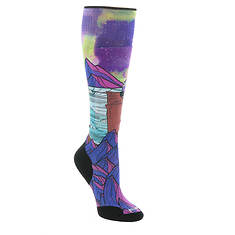 Smartwool Women's PhD Ski Light Elite Northern Dreams Print OTC Socks