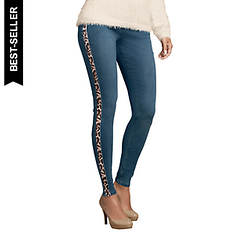 Leopard Side Stripe Jean