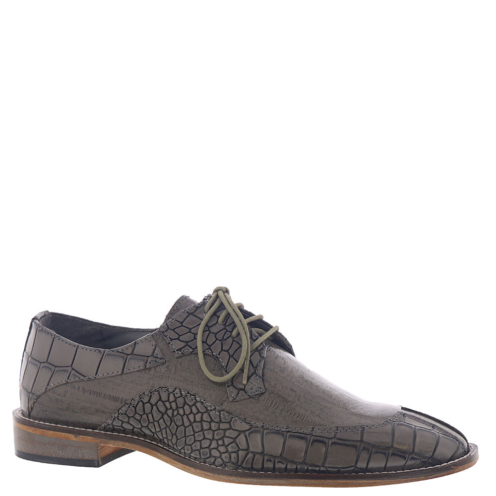 *Complement your professional attire with this refreshing update on the leather oxford *Croc- and eel-print leather upper *Lace-up closure *Fully cushioned insole with Memory Foam *Leather outsole