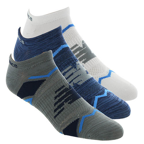 New Balance LAS60123 Perf Elite Sprt NoShow 3-Pack Socks