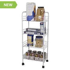4-Tier Steel Kitchen Trolley