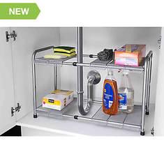 2-Tier Adjustable Cabinet Organizer