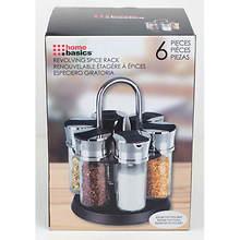 6-Jar Revolving Spice Rack Set