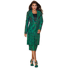 Contrast Jacquard Dress Set