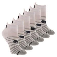 PUMA Women's P113578 Quarter 6 Pack Socks
