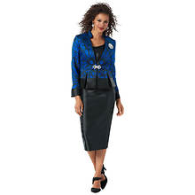 Printed Skirt Suit Set