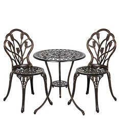 Patio Premier Tulip Garden 3-Piece Bistro Set