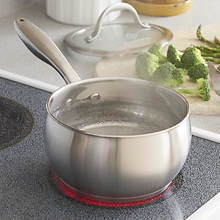 Heavy-Gauge Stainless Steel Cookware -- 2.2-Quart Saucepan