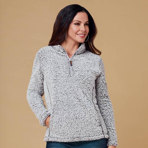 Women's Fluffy Knit 1/4-Zip Pullover