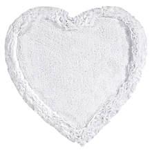 Ruffled-Border Tufted Heart Bath Mat