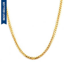 """10K Yellow Gold 26"""" 2.5mm Palm Chain Necklace"""