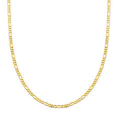 """10K Yellow Gold 24"""" Figaro Chain Necklace"""