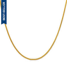 "10K Yellow Gold 1.3mm 24"" Solid Diamond-Cut Franco Chain"