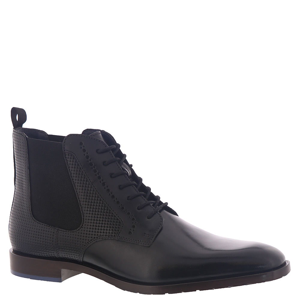 *This plain-toe dress boot adds serious class to your stylish look *Smooth leather and textured upper *Lace-up closure *Leather lining *Memory Foam insole *Non-leather outsole