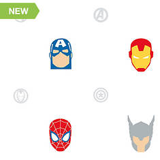 RoomMates Avengers Character Spot Peel and Stick Wallpaper