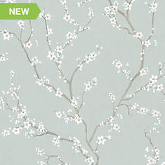 RoomMates Cherry Blossom Peel and Stick Wallpaper