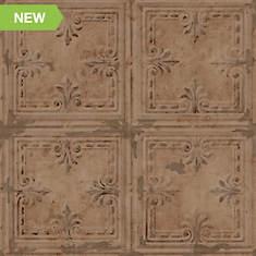 RoomMates Tin Tile Peel and Stick Wallpaper