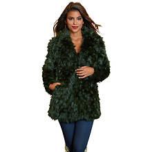Collared Faux Fur Coat