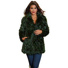 Collared Faux Fur Coat
