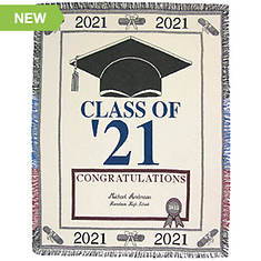 Personalized 2021 Graduation Throw