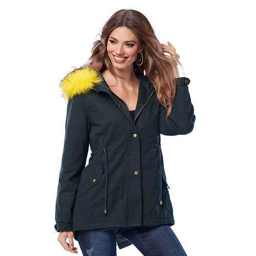 Faux Fur Anorak Coat