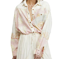 Free People Women's Chasing Waves Button-Down Shirt
