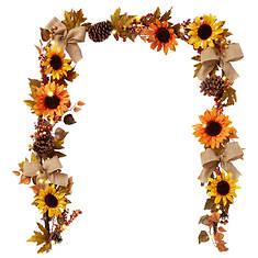 Sunflower and Pinecone Garland