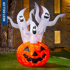 6' Inflatable Pumpkin with Ghosts