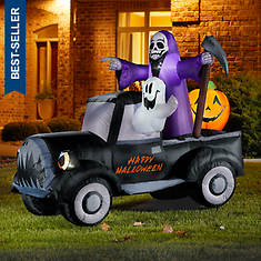 6' Halloween Pickup with Friends Inflatable