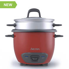 Aroma 6-Cup (Cooked) Pot-Style Rice Cooker and Food Steamer