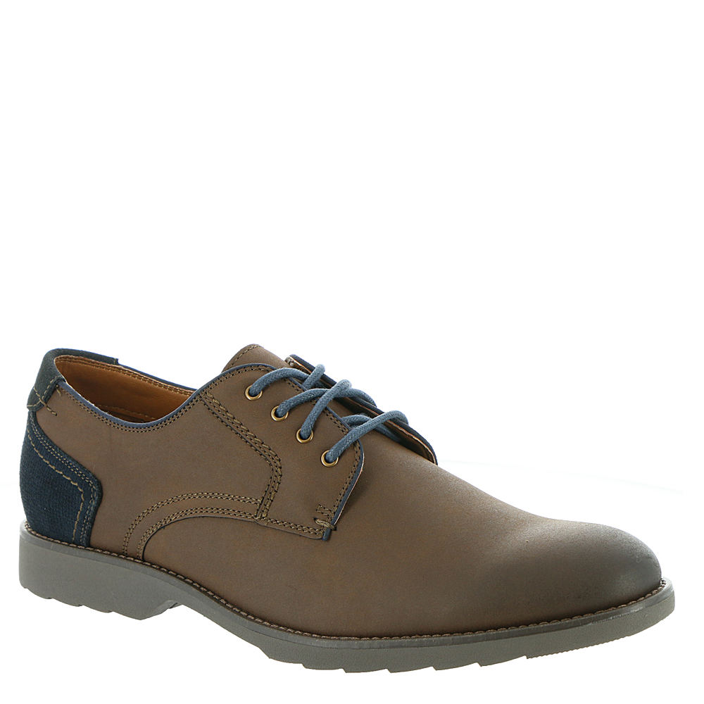 *Faux leather upper with contrasting tone paneling on back heel *Lace-up closure *Lightweight EVA footbed treated with antimicrobial technology to fight odors *Durable lightweight EVA outsole