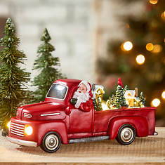 """5"""" Santa's Animated Red Truck"""