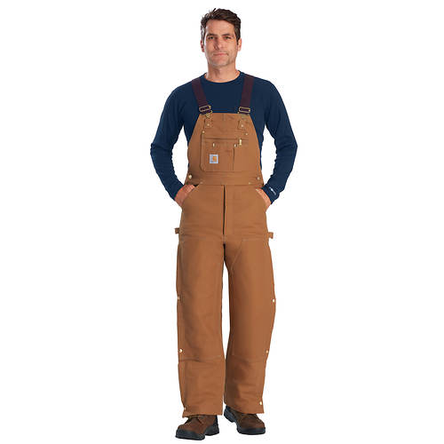 Carhartt Men's Quilted Lined Zip To Thigh Bib Overall