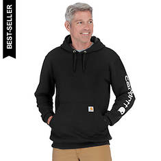 Carhartt Men's Midweight Signature Sleeve Logo Hooded Sweatshirt